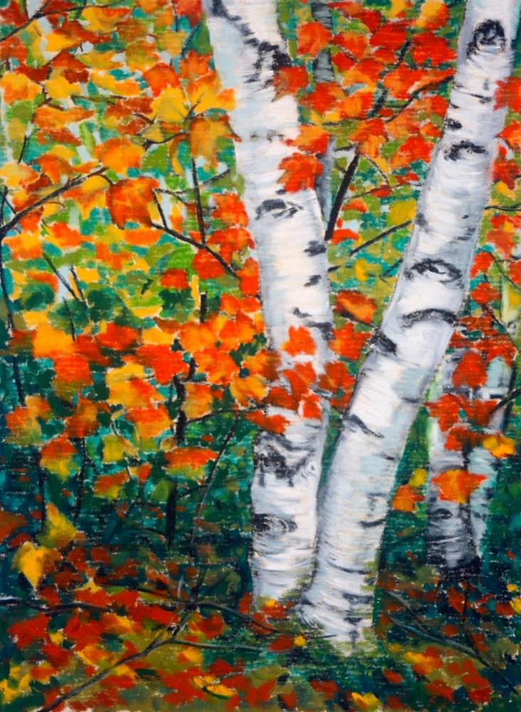 """""""Autumn Spirits"""" original fine art by Jill Bates"""