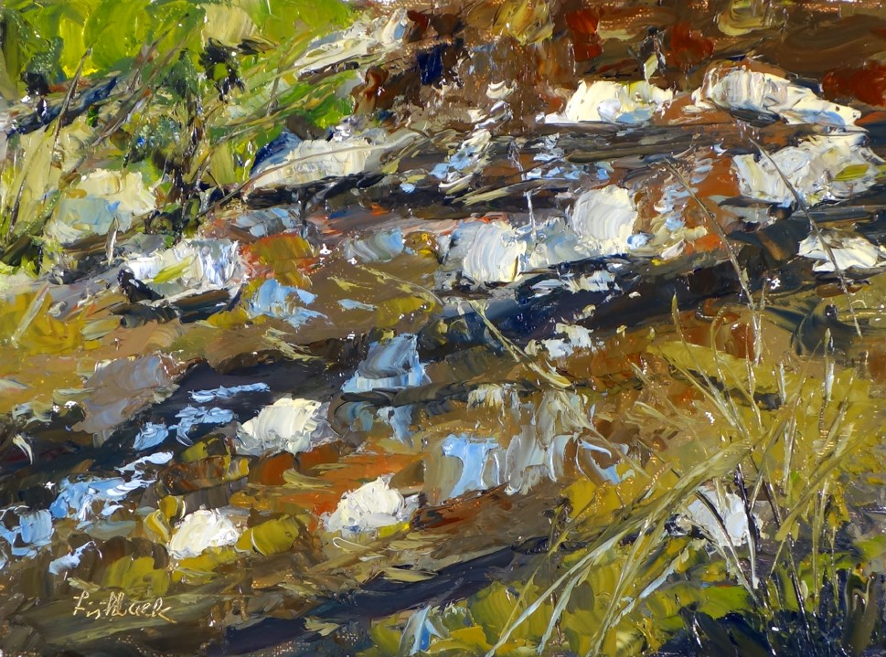 """Elsah Stream, en Plein air"" original fine art by Daniel Fishback"