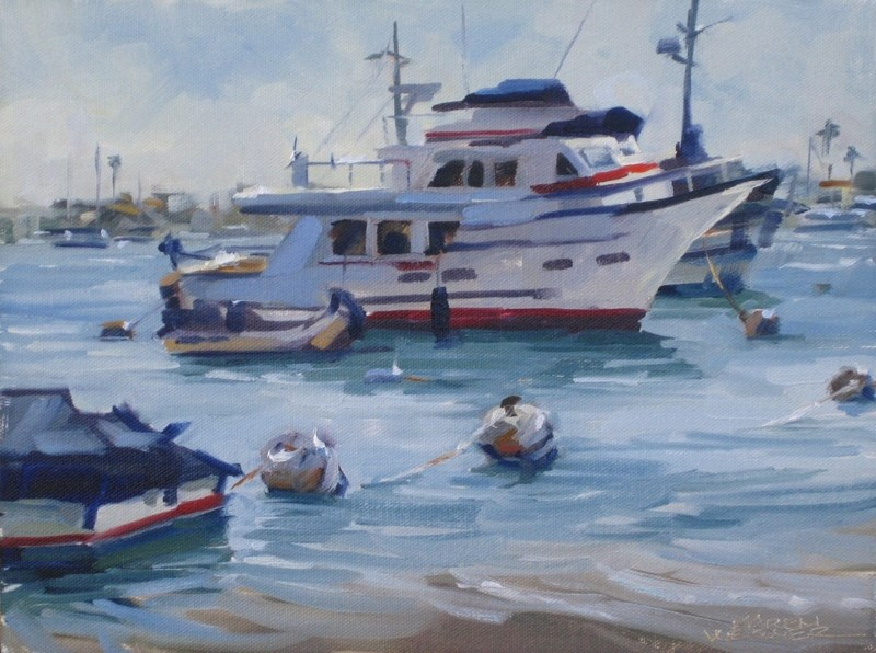 """Boats & Bouys"" original fine art by Karen Werner"