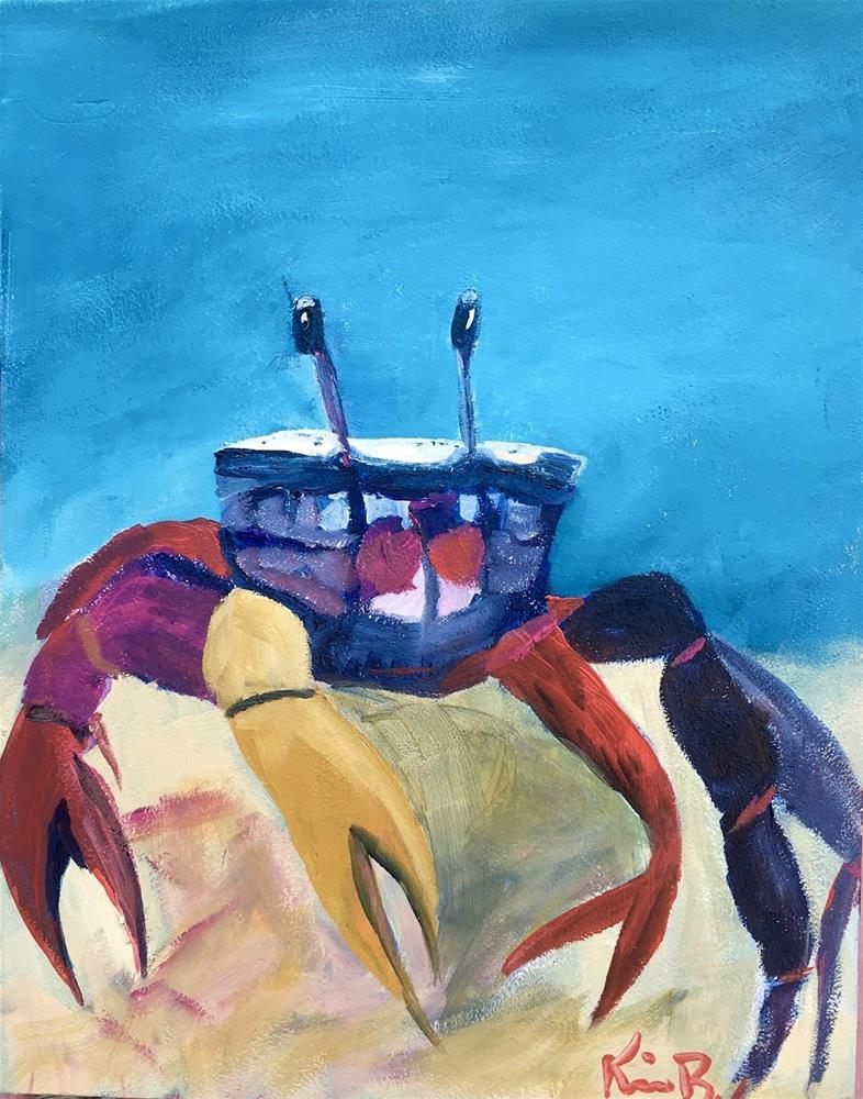 """Space Crab"" original fine art by Kimberly Balentine"