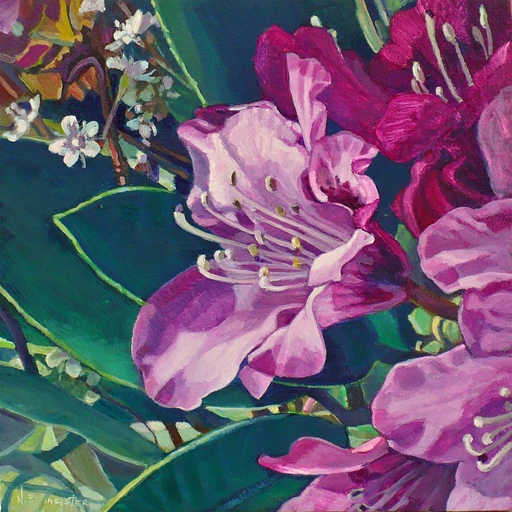 """Close up Rhododendron"" original fine art by Nicoletta Baumeister"