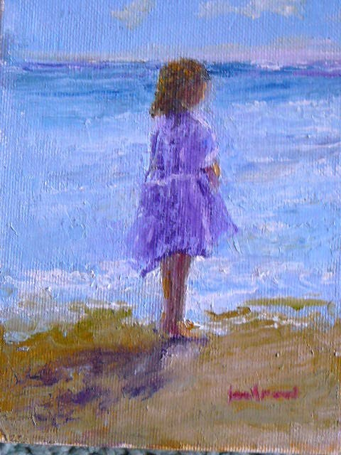 """Lavender Dress for Sea Watch"" original fine art by Jane Morac'E"