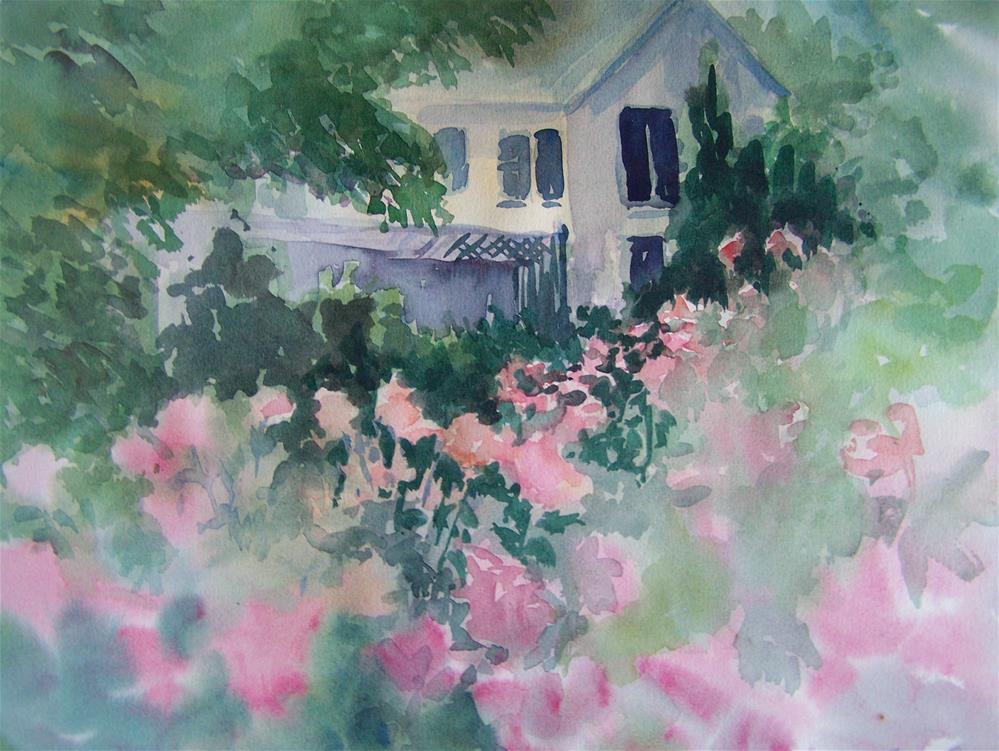 """Rose Garden"" original fine art by Joan Reive"