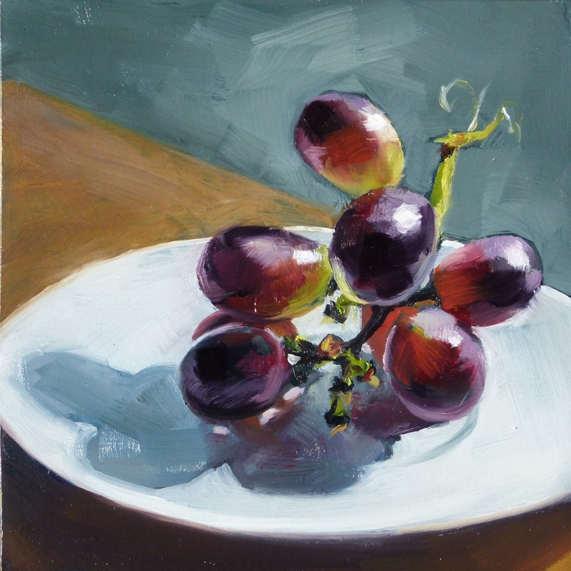"""Red Grapes"" original fine art by Deb Anderson"