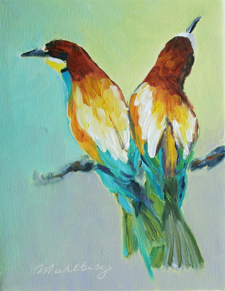 """My Favorite Birds"" original fine art by Cynthia Mahlberg"