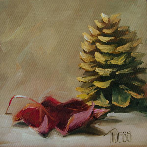 """""""Lone Cone"""" original fine art by Lori Twiggs"""