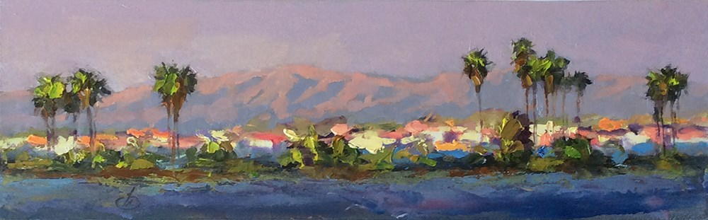 """PALM DESERT PANORAMA"" original fine art by Tom Brown"