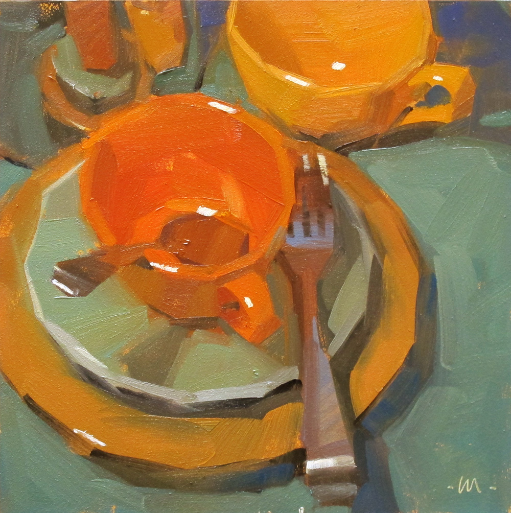 """Fall Dishes"" original fine art by Carol Marine"
