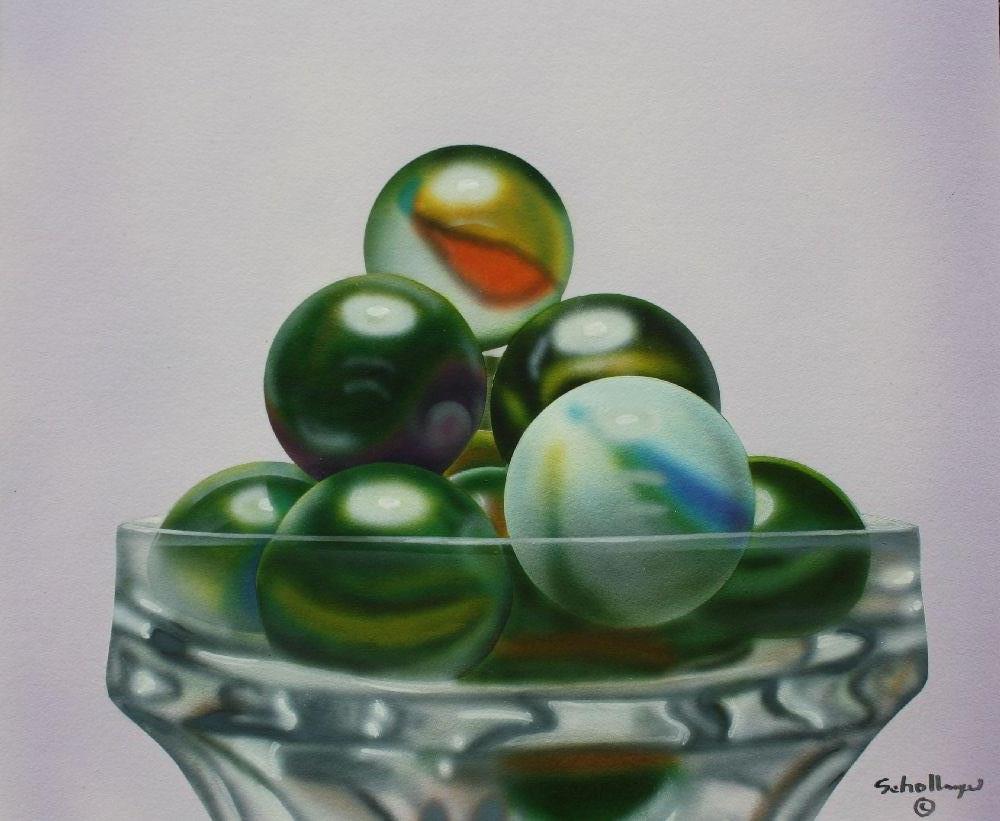 Marbles # 11 original fine art by Fred Schollmeyer