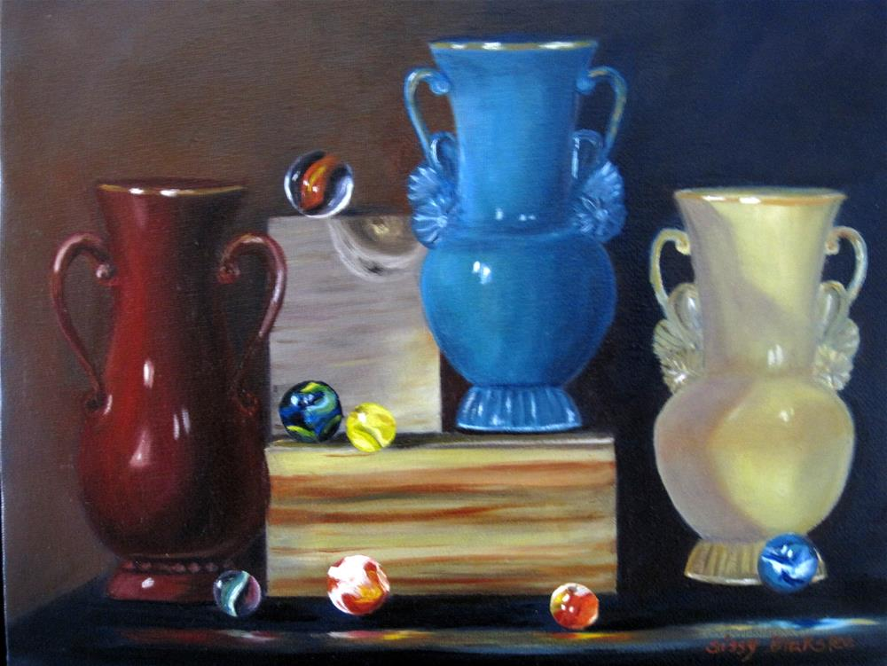 """Marbles and Vases"" original fine art by Sissy Blakslee"