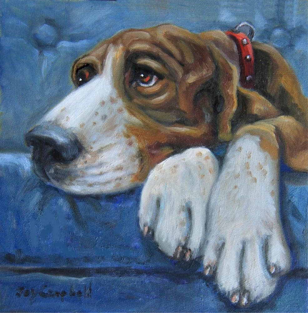 """Hound Dog Blues"" original fine art by Joy Campbell"