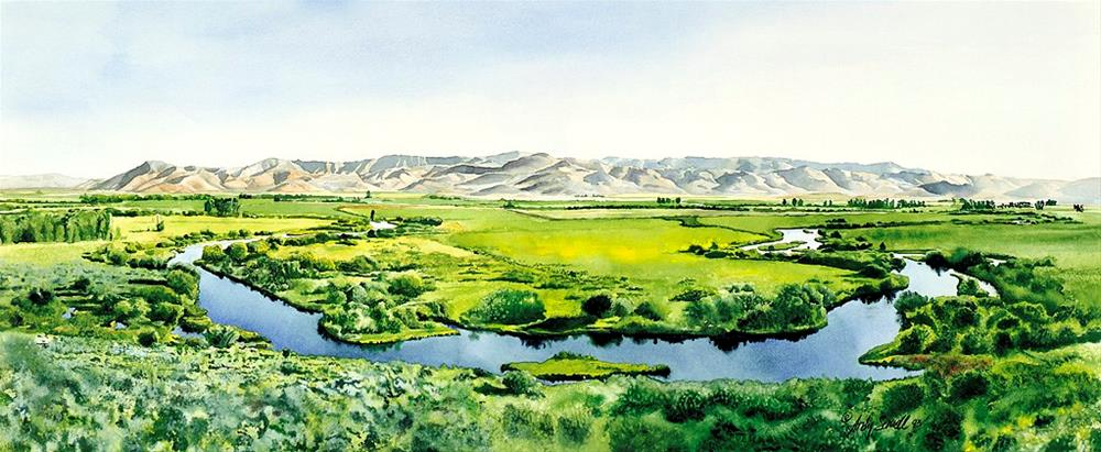 """Silvercreek Reflections"" original fine art by Andy Sewell"