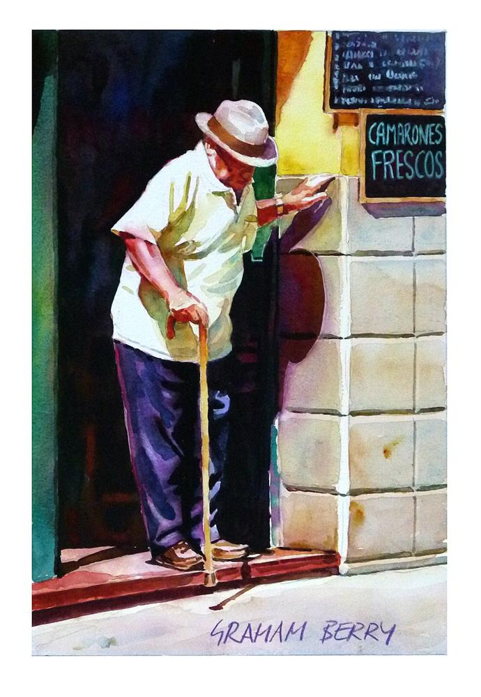 """Careful step."" original fine art by Graham Berry"