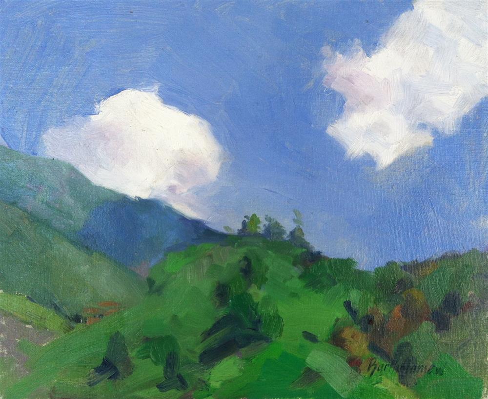 """Eaton Canyon Clouds, Pasadena, California"" original fine art by Karla Bartholomew"