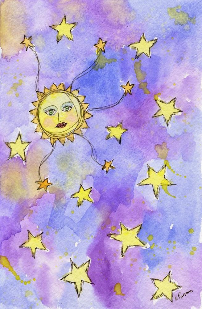 """Space, the Final Frontier"" original fine art by Kali Parsons"