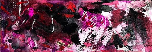 """Berry Romance Original Modern Contemporary Mixed Media Abstract Painting Art by Lisa Kreymborg"" original fine art by Lisa Kreymborg"