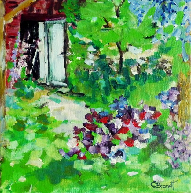 """in the garden"" original fine art by Claudia Brandt"