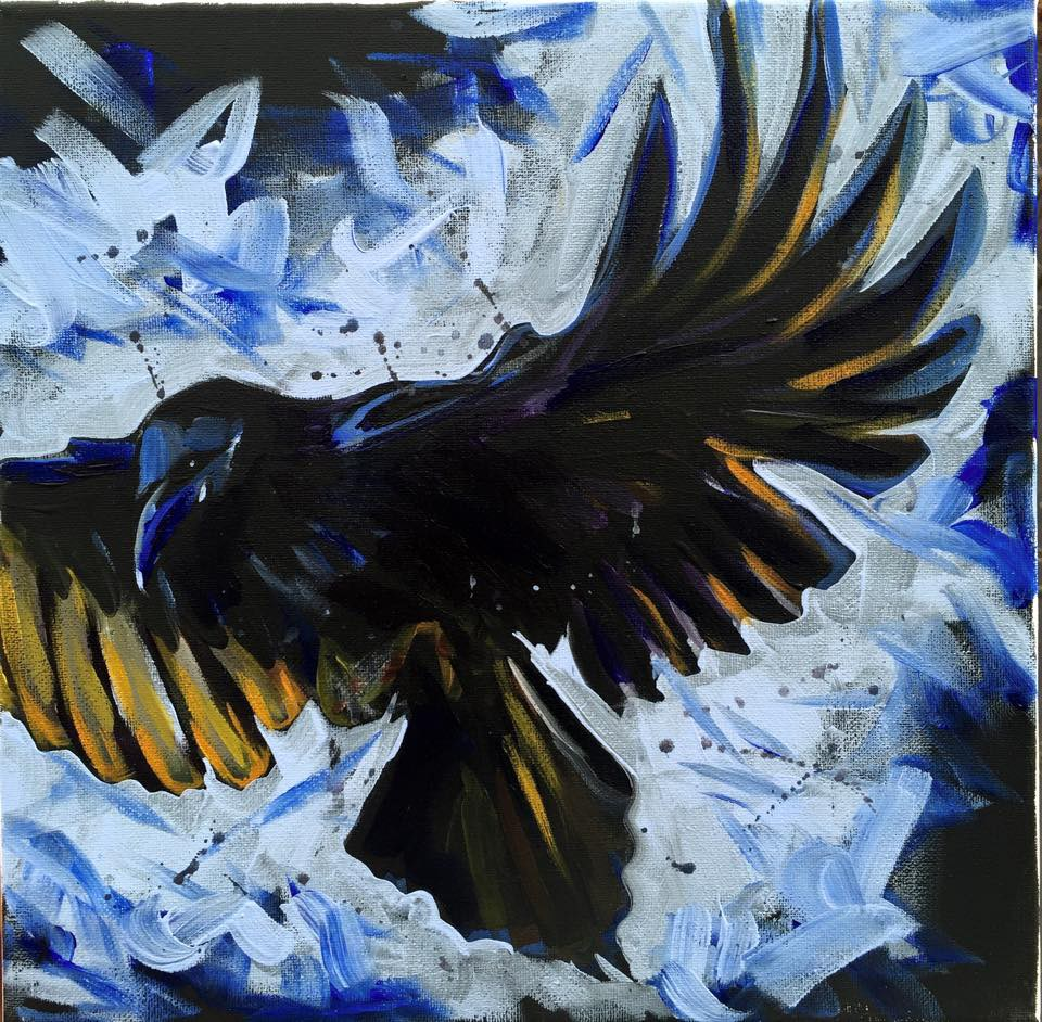 """As the Crow Flies"" original fine art by Lauren Kuhn"
