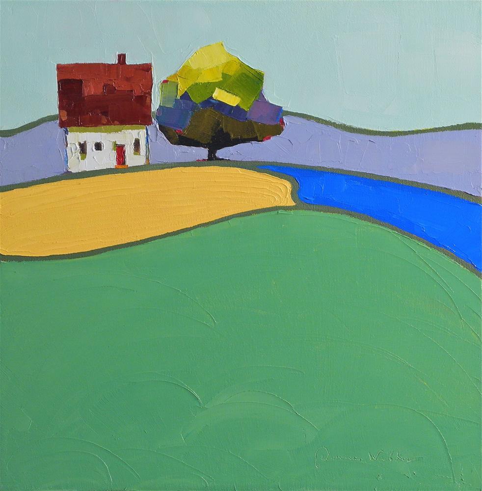 """Color Patch Tree II"" original fine art by Donna Walker"