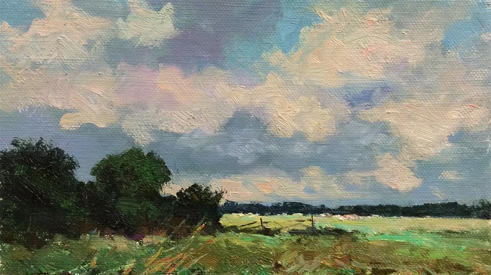 """A Day on The Marshes"" original fine art by John Shave"