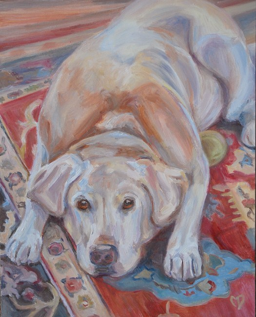"""Harley"" original fine art by Carol DeMumbrum"