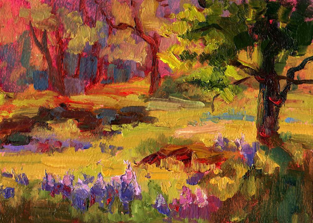 """""""CANEMAH CAMAS"""" original fine art by Karen E Lewis"""
