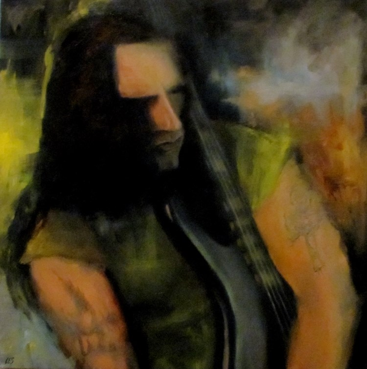 """Commissioned Painting: Peter Steele "" original fine art by ~ces~ Christine E. S. Code"