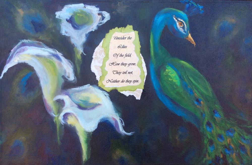 """""""consider the lily"""" original fine art by Susie Monzingo"""