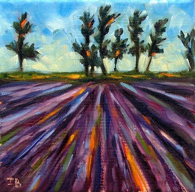 """Lavender fields"" original fine art by Irina Beskina"