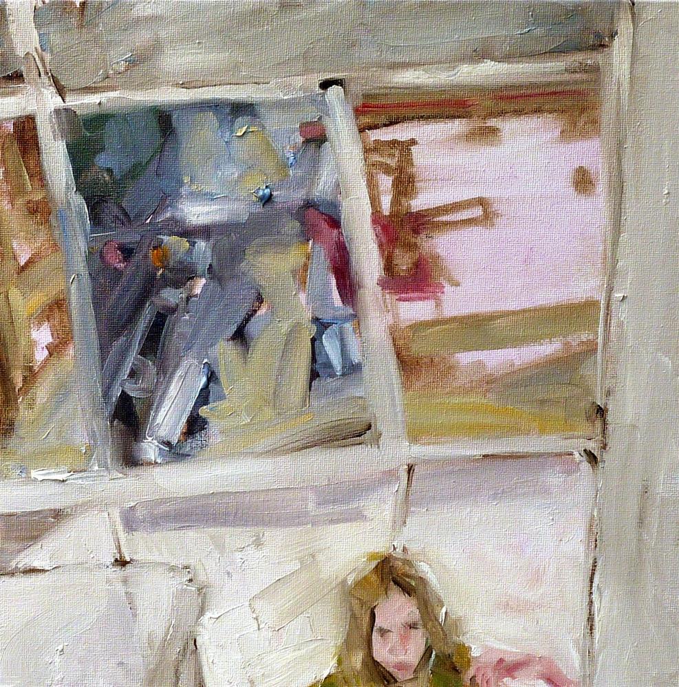 """hinter mir / behind me"" original fine art by Mila Plaickner"