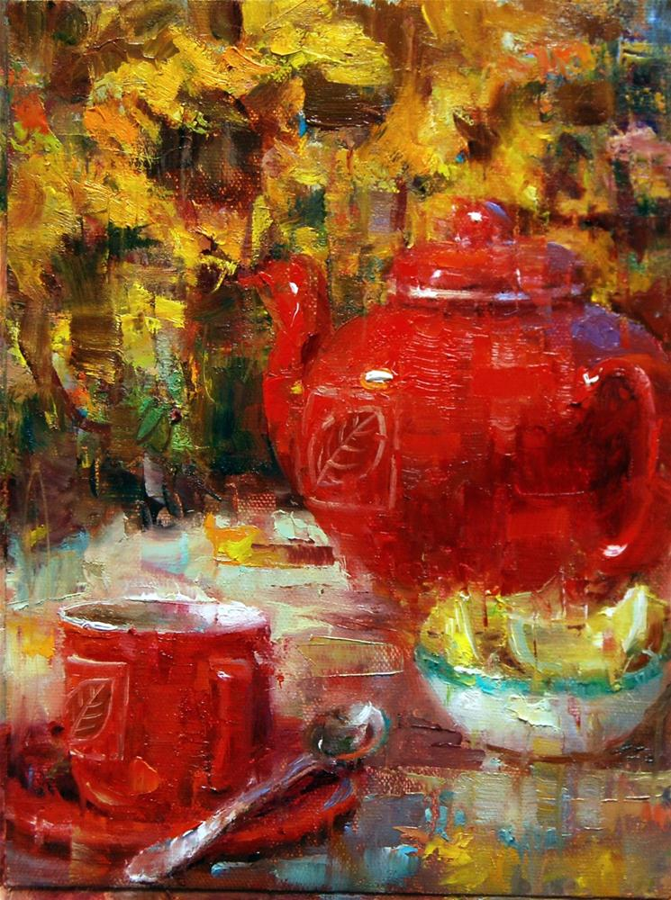 """Seeing Red"" original fine art by Julie Ford Oliver"