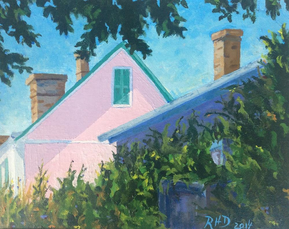 """""""Brittany House with Shadow"""" original fine art by Richard Doyle"""