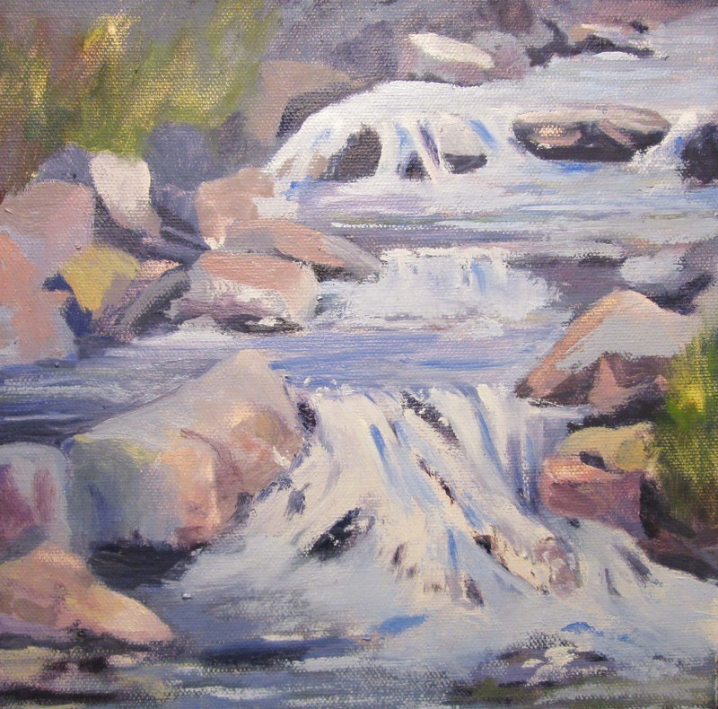 """Stream Flow Study"" original fine art by Norm Rossignol"
