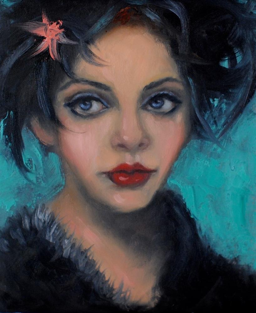 """Feathered Hat"" original fine art by Kelly Berkey"