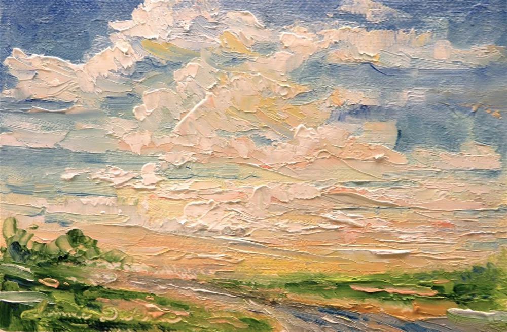 """Glorious Clouds"" original fine art by Tammie Dickerson"