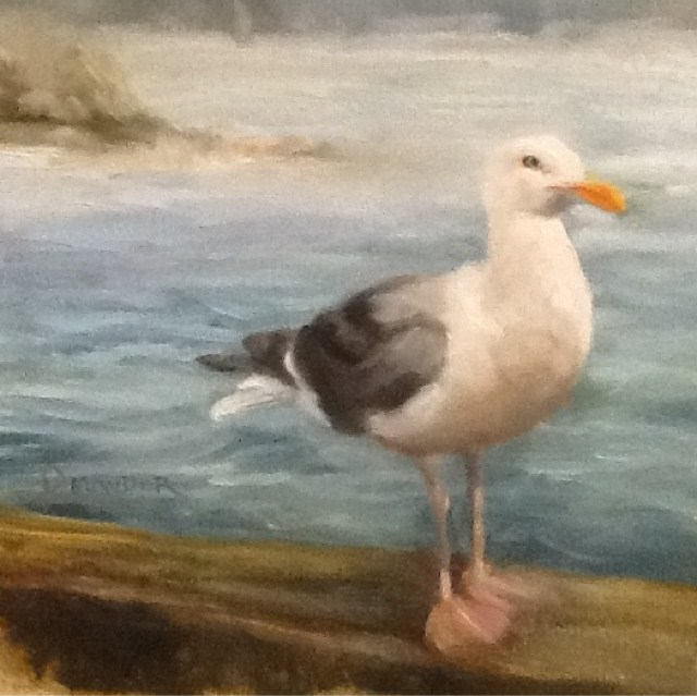 """Birdbrain"" original fine art by Diana Delander"
