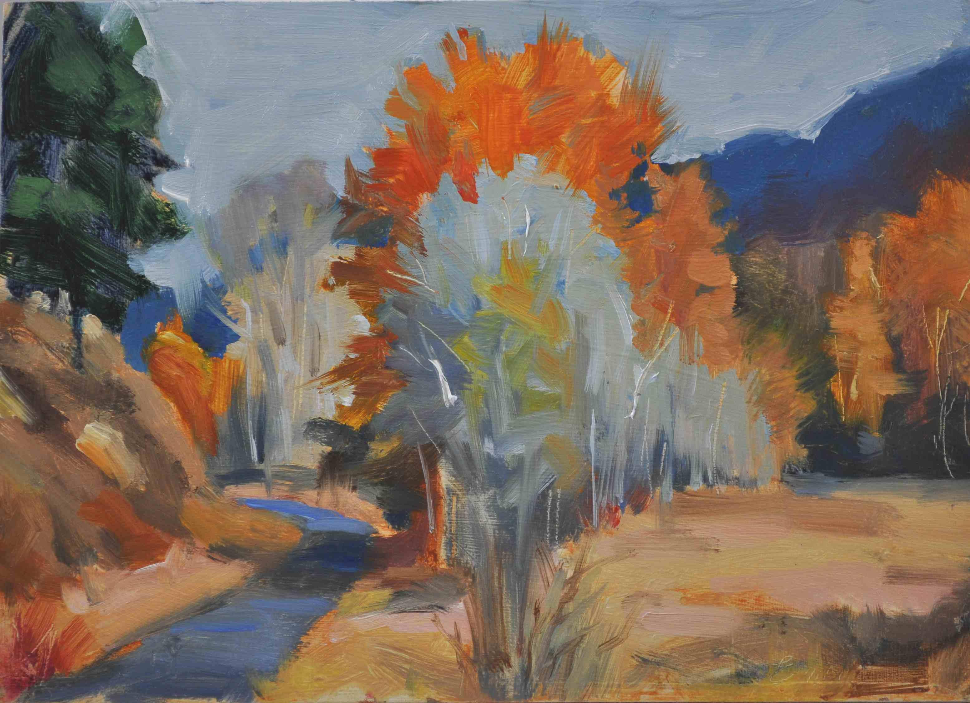 """Golden Time 6x8 , oil on gessoed board"" original fine art by Emiliya Lane"