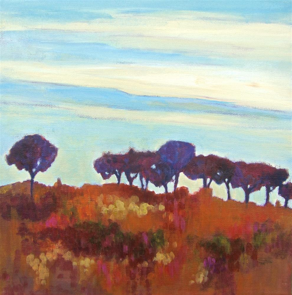 """Paysage"" original fine art by Patricia MacDonald"