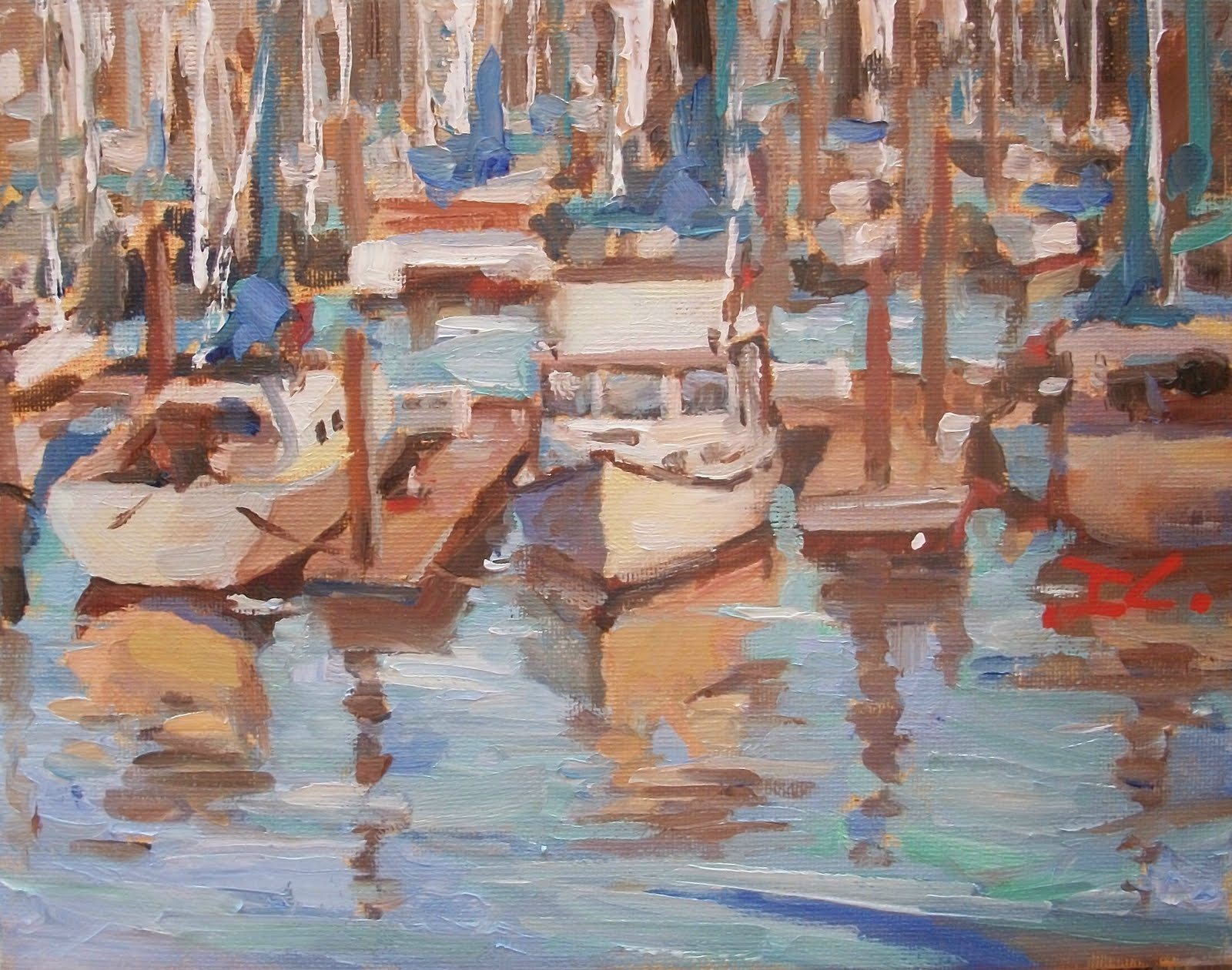 """1000 BOATS"" original fine art by Doug Carter"