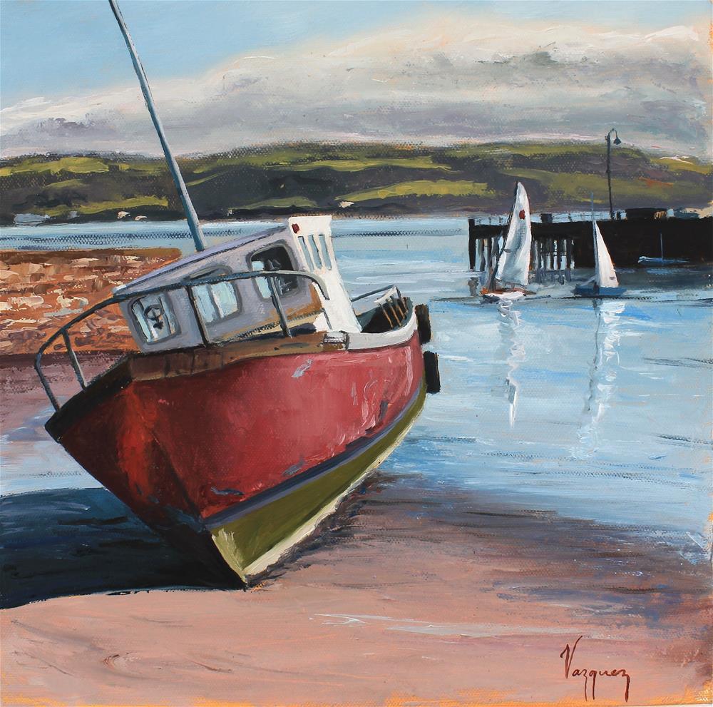 """Boats"" original fine art by Marco Vazquez"
