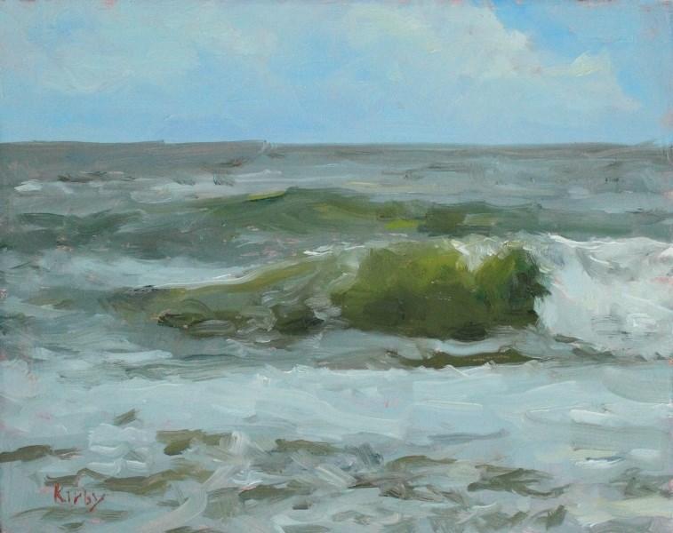 """Surf at 27th"" original fine art by Randall Cogburn"