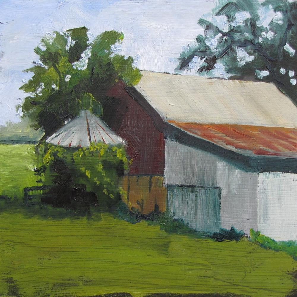 """Hayle's Barn"" original fine art by Louise Kubista"