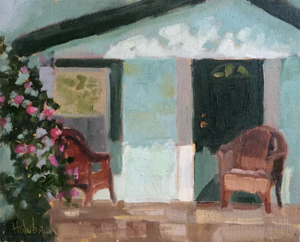"""Front Porch Light"" original fine art by Pam Holnback"