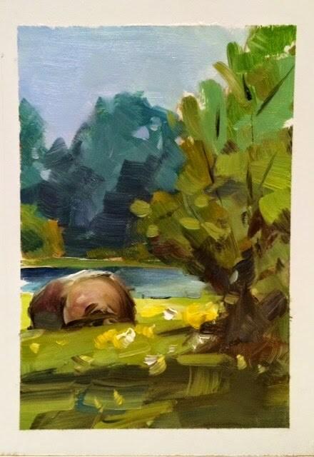 """"""" NEWNESS """" original fine art by Doug Carter"""