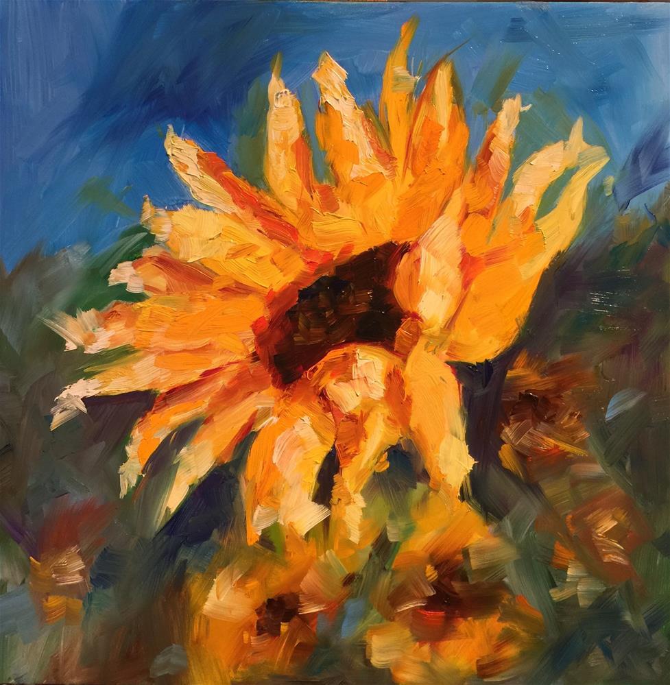 """Sunny 2"" original fine art by Hoda Nicholas"