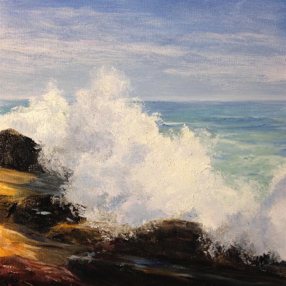"""""""Surf at Ocean Point"""" original fine art by Judith McKenna"""