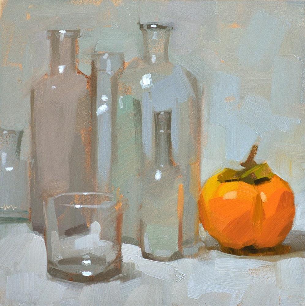 """Glass vs. Persimmon"" original fine art by Carol Marine"