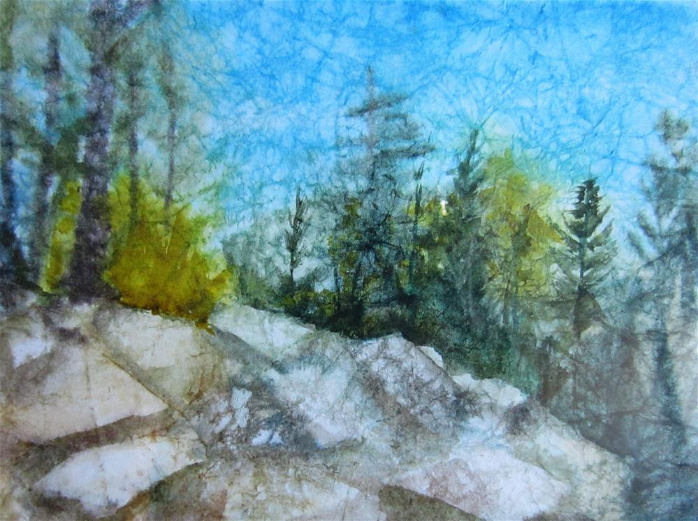 """Rocky Climb"" original fine art by Dolores Pettit"