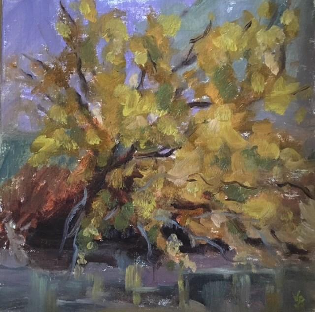 """Rainy Day at Alsea"" original fine art by Victoria  Biedron"