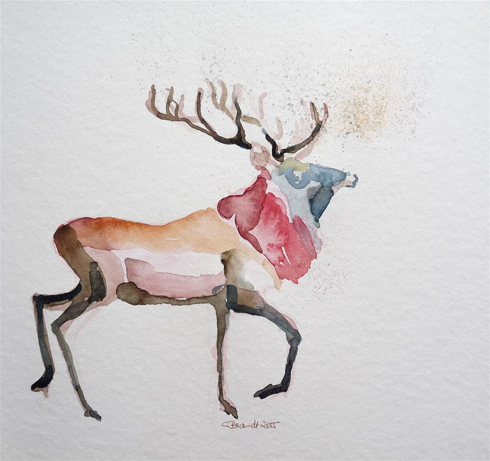 """deer No.2"" original fine art by Claudia Brandt"